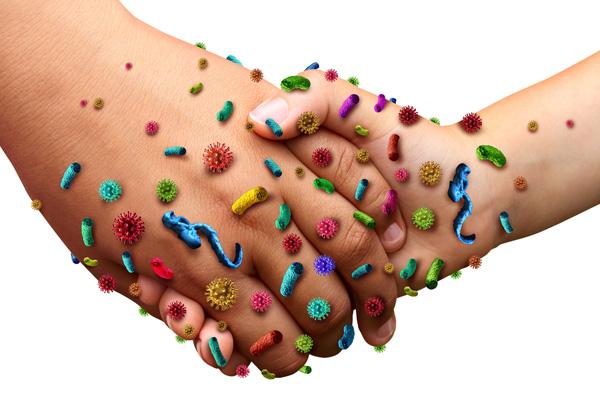 вирусы на руках человека
